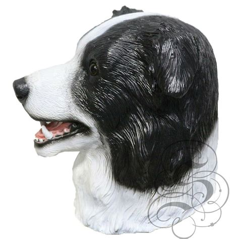 latex full head animal border collie dog high quality