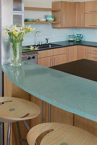 Dazzling Contemporary Kitchen With Blue Sky Granite Table
