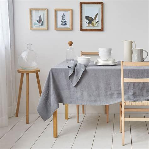 tischdecke und servietten aus gewaschenem leinen in grau linen collection tisch zara home