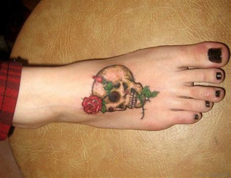 magnificent skull tattoos  foot