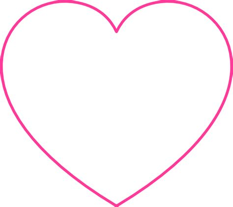 pink blank heart clip art  clkercom vector clip art