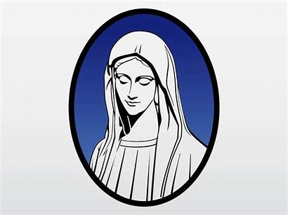 Mary Holy Blessed Mother Virgin Clipart Vector