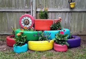 Basteln Mit Autoreifen : gartendeko aus autoreifen nowaday garden ~ Lizthompson.info Haus und Dekorationen