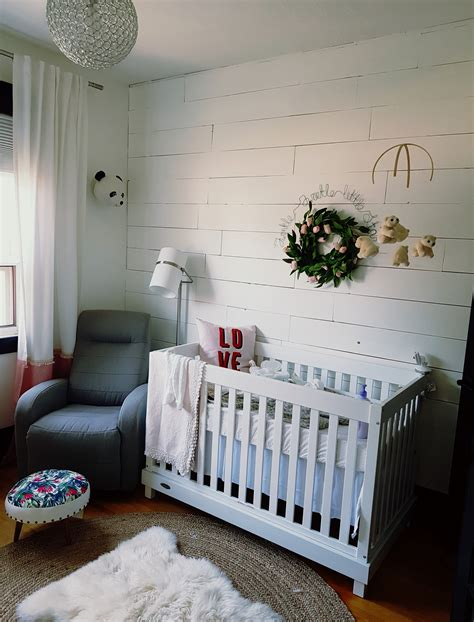 sweet baby girl shiplap nursery project nursery