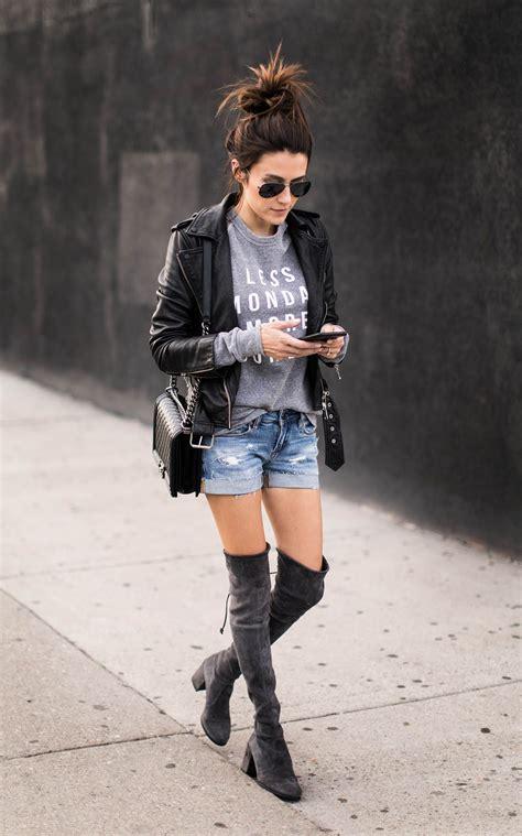 Leather Jacket And Shorts Casual Fashion Fashion