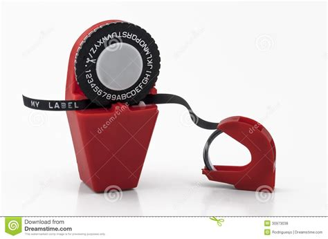 plastic desk label maker 01 royalty free stock photos image 30973038