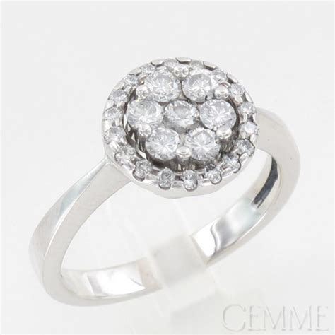 bague or blanc diamant taille moderne