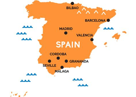 map  spain railpasscom