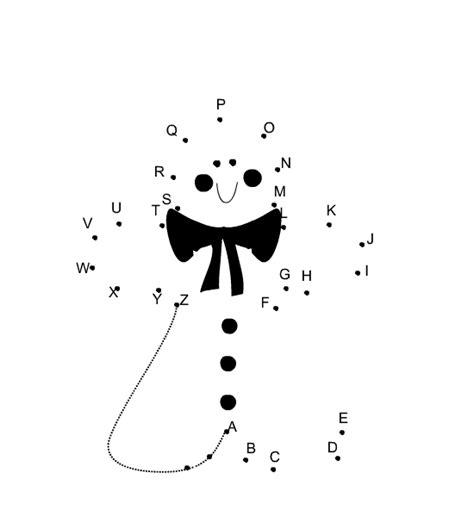 printable alphabet dot  dot  christmas