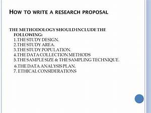 Writing Methodology For Research Proposal How To Write An Effective