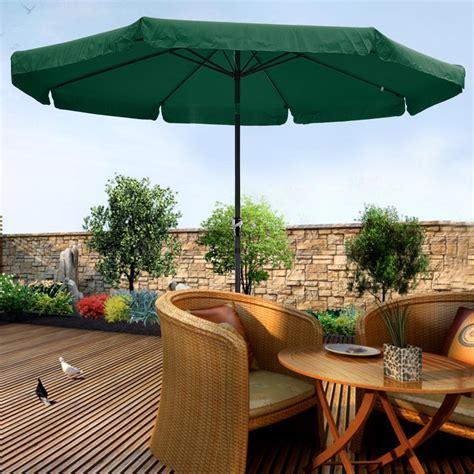 Umbrella Backyard by 10ft Aluminum Outdoor Patio Umbrella W Valance Crank Tilt