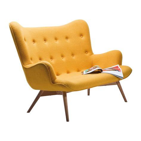 canapé rétro canapé retro en tissu jaune wings meubles kare