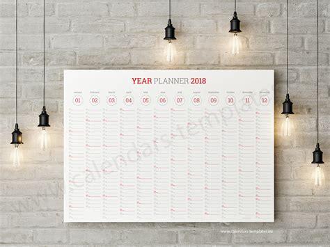 giant wall calendar planner  printable  template