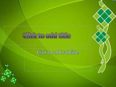 ketupat simple template special background  title