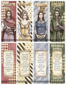 Hogwarts Founders Double Sided Bookmarks By Achen089 On