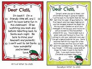 christmas quotclassroom elfquot printables shelf ideas With elf on the shelf class letter