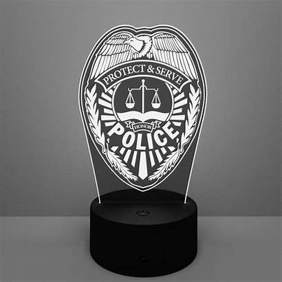 Police Badge Lamp Led Lamps