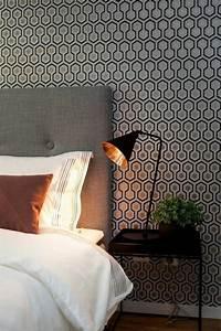 Papier Peint Chambre À Coucher : comment choisir un habillage mural quelques astuces en photos ~ Nature-et-papiers.com Idées de Décoration