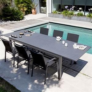 Table De Jardin Aluminium Jardiland : table de jardin trieste aluminium l130 180 l82 cm gris 138 ~ Melissatoandfro.com Idées de Décoration