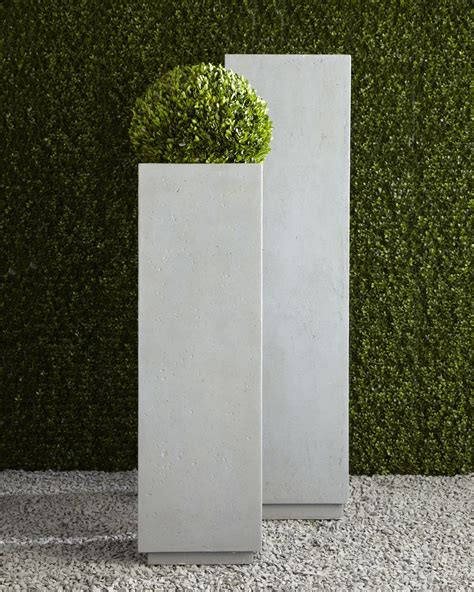 Square Outdoor Planters by Modern Square Planters Home Outdoor Living