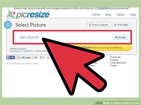ways  resize digital  wikihow