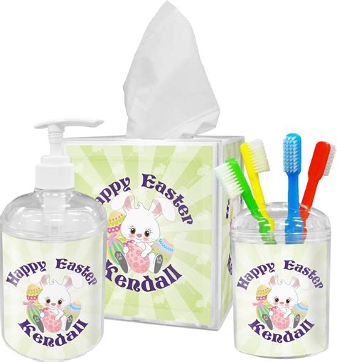 easter bunny bathroom accessories set personalized youcustomizeit