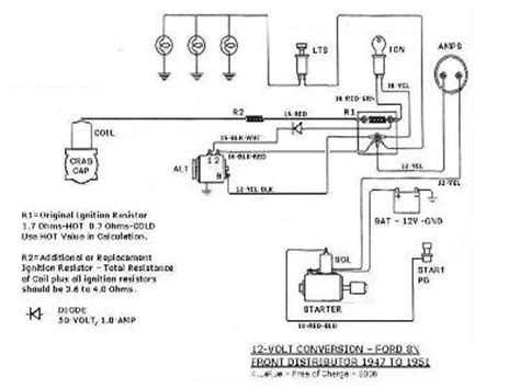 Ford 6 Volt Positive Ground Wiring Diagram by Wiring Diagram For 6v Tractor Voltage Regulator Positive