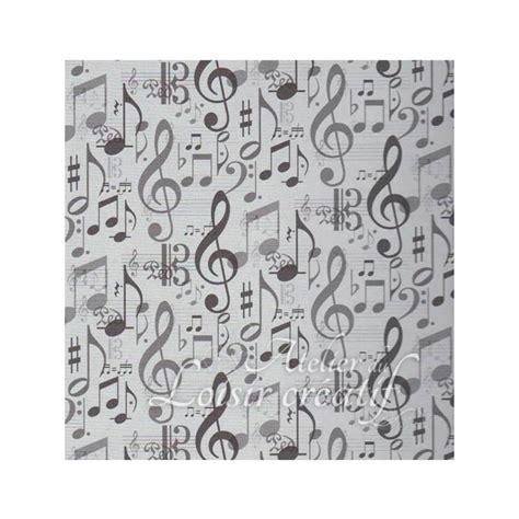 papier scrap note musique noire papier motifs divers