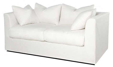 small modern white leather loveseat sleeper sofa with