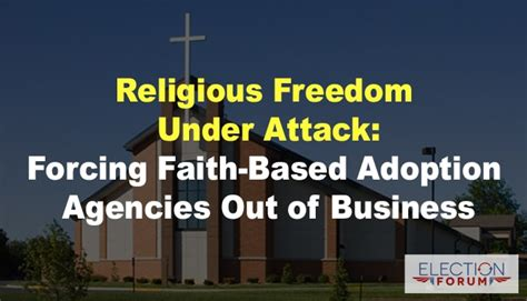 religious freedom  attack forcing faith based