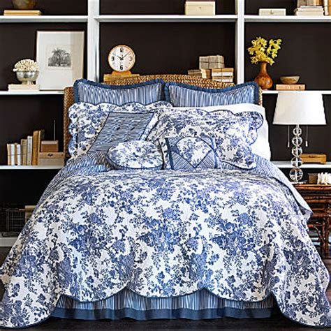 jcpenney bedding quilts toile garden quilt accessories jcpenney