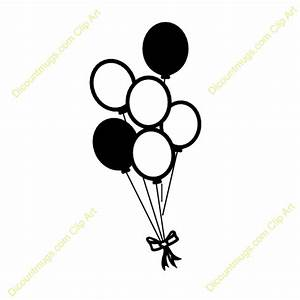 Happy Birthday Balloon Clipart Black And White | Clipart ...