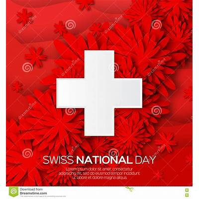 Abstract Swiss National Day. Switzerland Independence Day