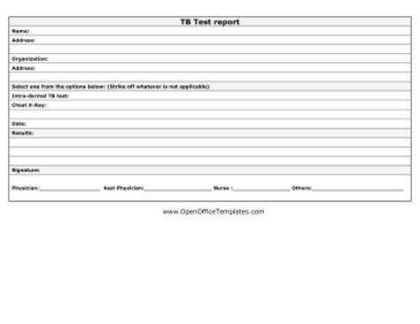 tuberculosis test openoffice template