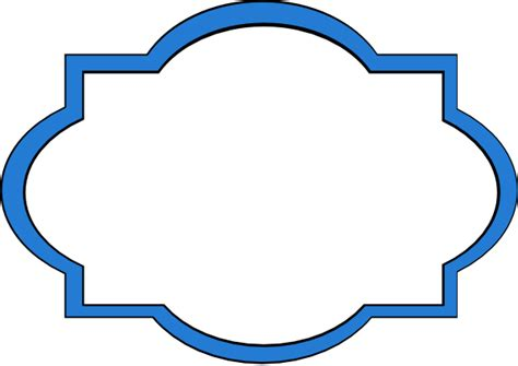 blue frame label clip art  clkercom vector clip art