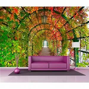 Papier Peint Fleuri : papier peint g ant d co pont fleuri 250x360cm art d co ~ Premium-room.com Idées de Décoration