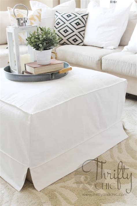Make An Ottoman From A Coffee Table by How To Make A Slipcover For An Ottoman Or Coffee Table