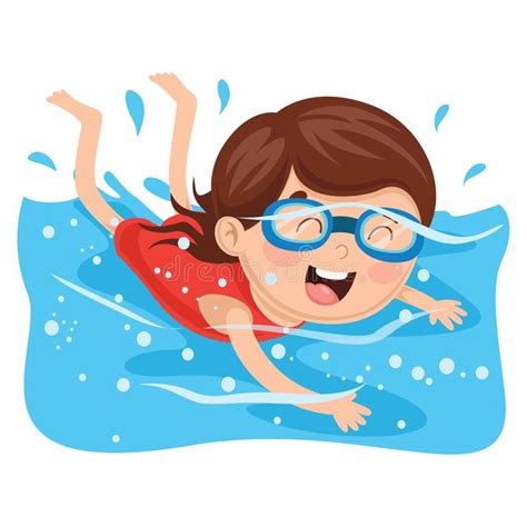 foto de Vector Illustration Of Kid Swimming Stock Vector