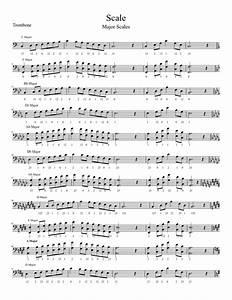 baritone finger chart treble clef 3 valve mayor scales baritone horn euphonium