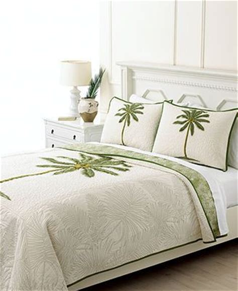 martha stewart collection bedding coconut palm quilts