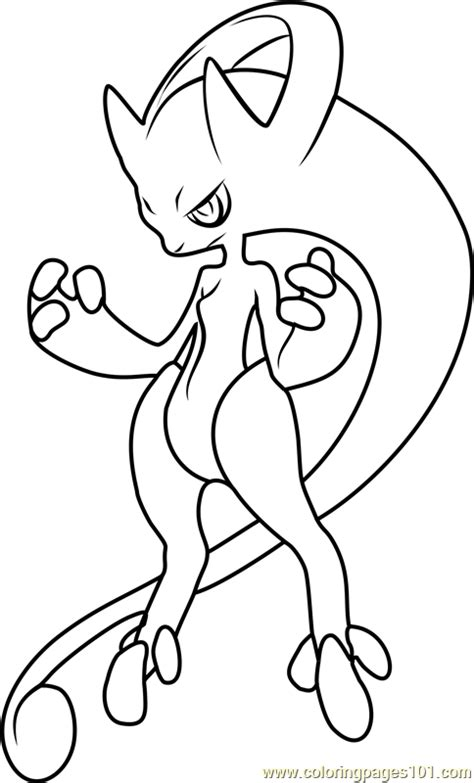 Kleurplaat Mewtwo by Mega Mewtwo Coloring Pages Coloring Pages