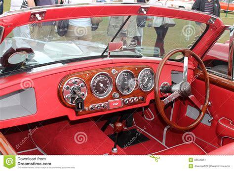 Classic Aston Martin Convertible Sports Car Interior