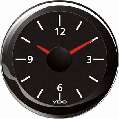 Clock Vdo Analog Volts Gauges Onyx Viewline