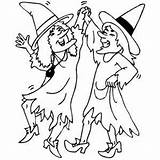 Witches Dancing Coloring Halloween Sheet Wales Flag Freecoloringsheets Sheets sketch template