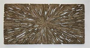 Screen gems long square wall decor rotten wood finish