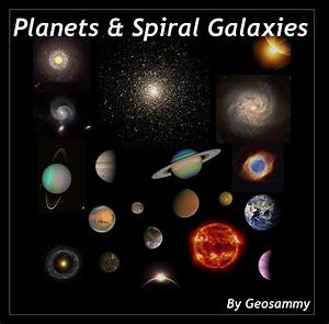 Planets and Spiral Galaxies by Geosammy on DeviantArt