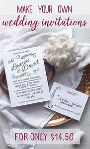 blog worthy wedding invitations that you can make at home With wedding invitations you can print at home