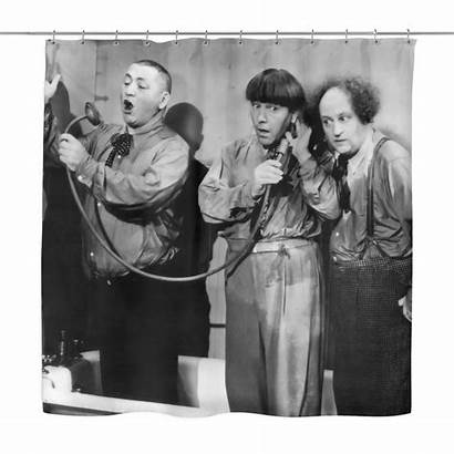 Stooges Three Shower Curtain Shipping Moe Shopknuckleheads