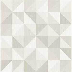 A-Street Puzzle Light Grey Geometric Wallpaper Sample-2697