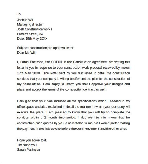 pre approval letter 9 sle pre approval letters to sle templates 34549